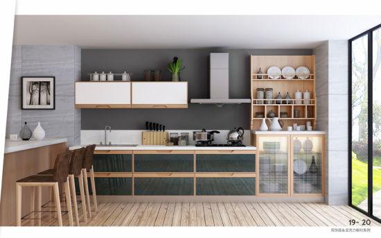 European Design Br Ma010 Melamine Series Mix Acrylic Kitchen Cabinets