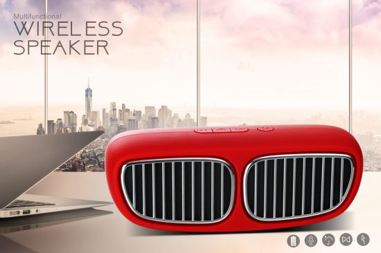 Newest BMW Appearance 2*3W Mini Portable Wireless Bluetooth Speaker