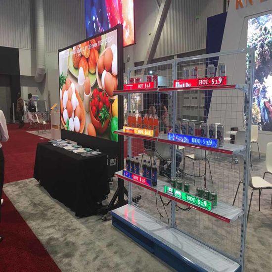 Indoor Shelf LED Display Screen Video Panels COB High Resolution Long Life Span