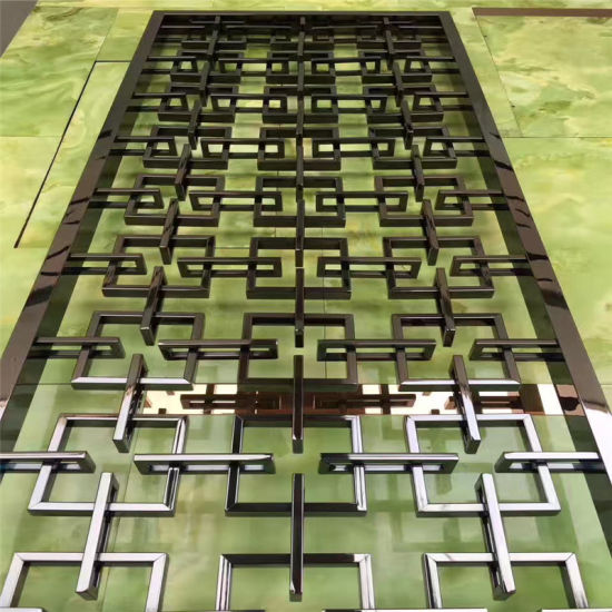 Interior Design Stainless Steel Partition Wall Panel Laser Cut Screen for Architectural Projects