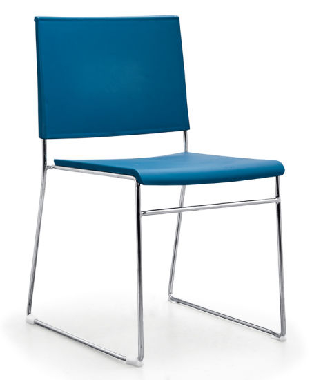 Plastic Metal Leisure Fixed Living Room Waiting Visitor Chair Without Arms
