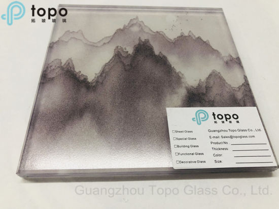 Laminated Mountains and Waters Painting Wire Fabric Glass (PLW-TP)