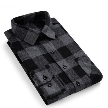 ODM Plant Different Style Grid Men Shirts for Work 3