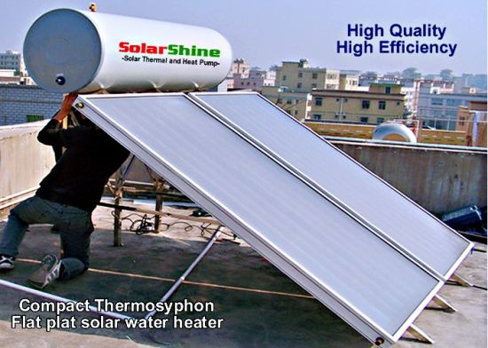 Stainless Steel Thermosyphon Solar Water Heater Flat Roof Bracket