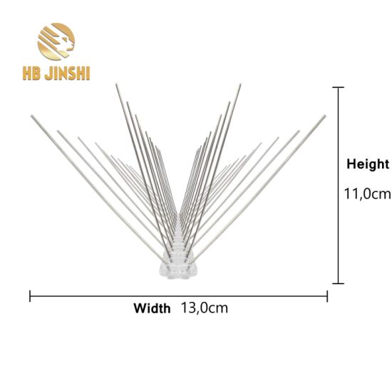 Natural Plastic Bird Spikes Bird Pest Control with Stainless Spike