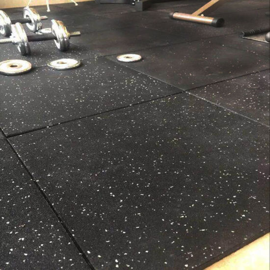 Recycled Fitness Mats Tile Rubber Flooring for Gym Equipments Home and Commercial