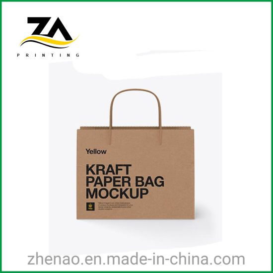 Standard Custom Made Recyclable Kraft Paper Bags for Clothes