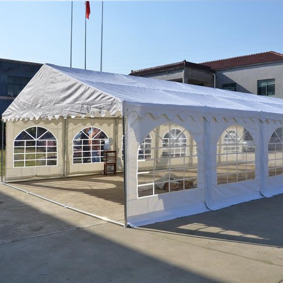 Pure White Cheap PVC Steel Frame Structure Wedding Party Tent