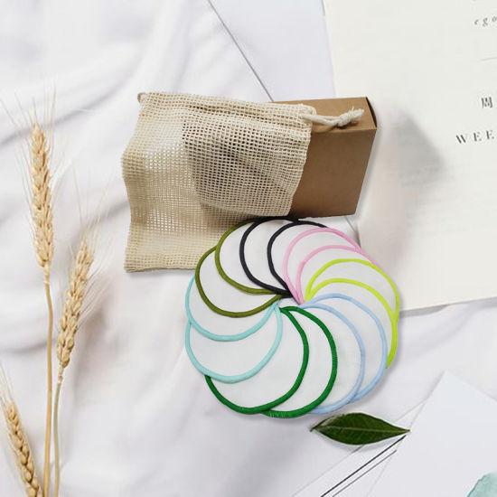 Multicolor Women Facial Care Reusable Microfiber Bamboo Cotton Washable Makeup Remover Pads