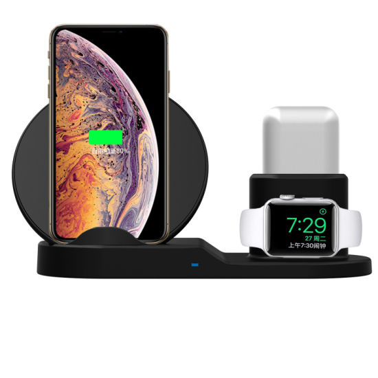 China 3 In 1 Qi Wireless Phone Charger Stand For Iphone Airpods Apple Watch Charge Dock Station Charger For Apple Watch China Wireless Charger And Wireless Phone Charger Price