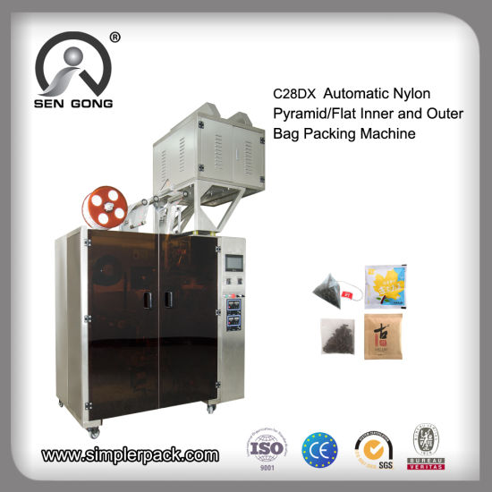 PLA Tea Bag Packing Machine with Triangle and Flat Bag