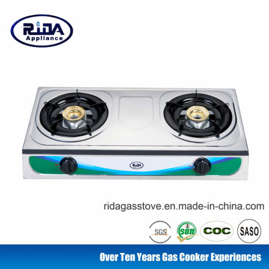 Low Price Steel Double Burner Stainless Steel Gas Stove