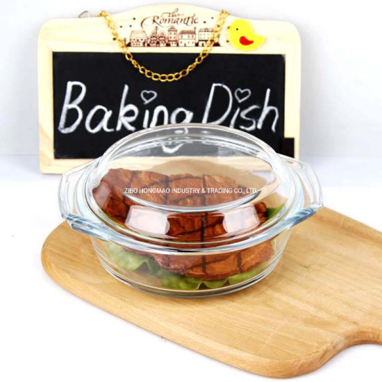 Wholesale Round High Borosilicate Glass Casserole with Glass Lid