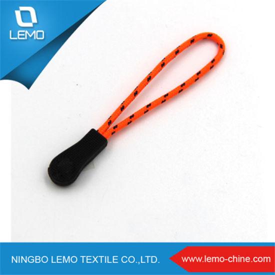 Lemo Custom Logo Nylon Cords Travel Rubber Plastic Zipper Puller