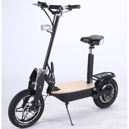 China folding hub motor electric scooter with 14 inch big for Big wheel motor scooter