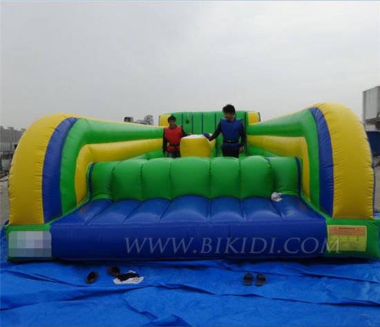 2 Lanes Inflatable Bungee Run, Interactive Sport Game B6085