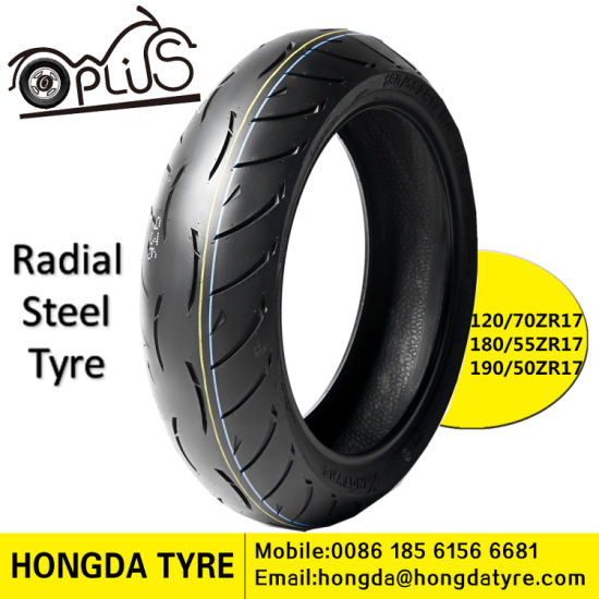 Motorcycle Radial Tyre 120/70zr17 185/55zr17 190/55zr17 Radial Steel Motorcycle Tire pictures & photos