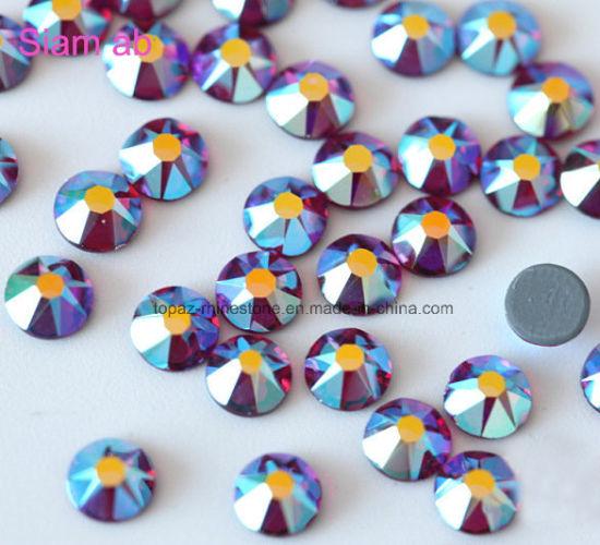 3e12be10c Shiny 6A Glass Wholesale Crystal Ss20 Wedding Decoration Strass Hotfix Large  Flat Back Rhinestones pictures &