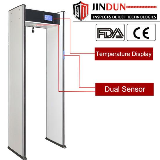 Walk Through Digital Display High Temperature Alert Infrared Auto Scanner