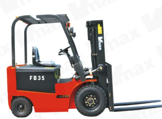 3, 000kg Capacity 4-Wheel Electric Forklift Truck Curtis Controller Imported Battery pictures & photos