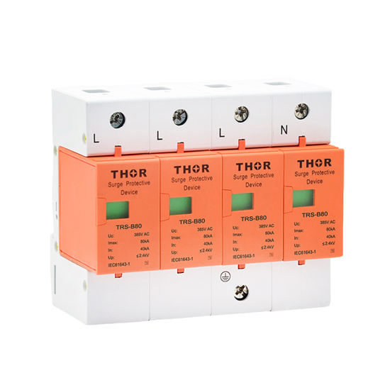 Power Surge Voltage Protector 80ka Lightning Surge Protection Surge Protector Time Delay pictures & photos