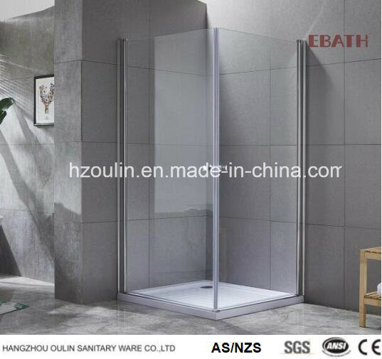 Square Shower Enclosure with The Double Opening Doors -Nano Glass Design