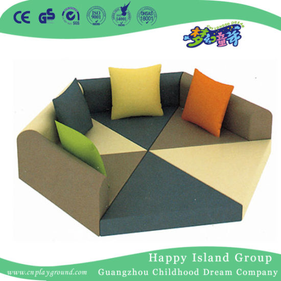 Children Furniture Hexagon Sofa Combination for School (HJ-8602)