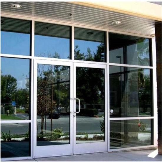 China New Design Exterior Outdoor Swing Spring Aluminum Glass Doors
