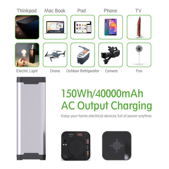Fast Charge Outdoor Portable Customised 12V Lithium 4000mAh UPS Power Bank for Laptop