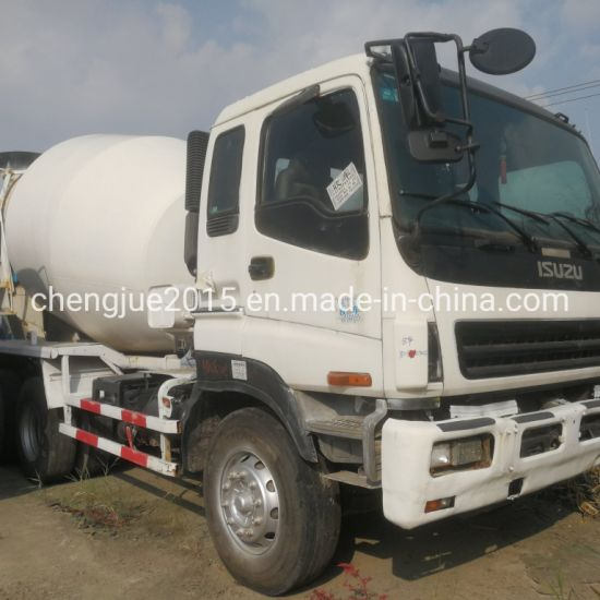 Used Isuzu 6X4 Mixer Truck with 9cbm Cement Tank Good for Project