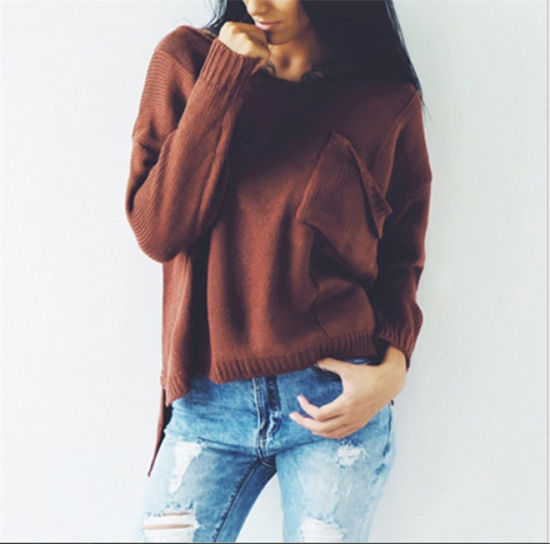 Fashion Ladies USA Style Viscose Pullover Sweater Wholesale, OEM
