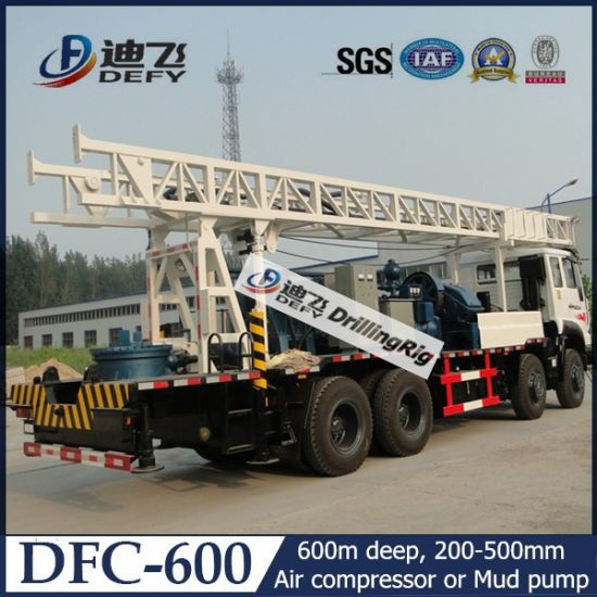 200-600m Truck Mounted Rotary Drilling Rig with Mud Pump for Sale