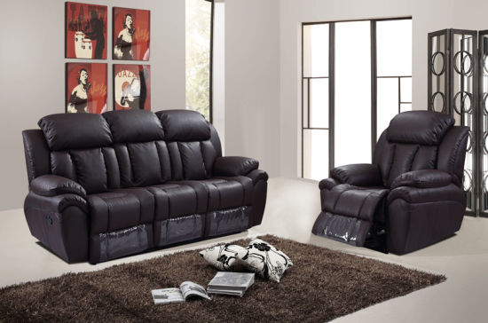 Modern Design Commercial Living Room Leather Recliner Sofa Set 1+2+3  (HC5928)