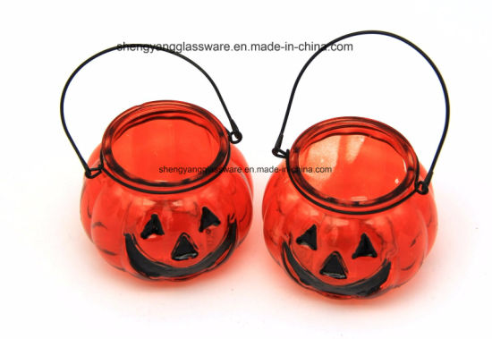 Promotional Gift Pumpkin Shape Candle Stick Candle Holders for Christmas Festival pictures & photos
