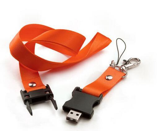 Promotional Gift Wholesale Lanyard USB Pen USB Flash Drive with Logo pictures & photos