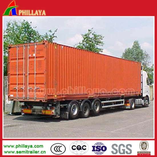 3axles 40FT Truck Van Curtain Side Cargo Box Semi Trailer pictures & photos