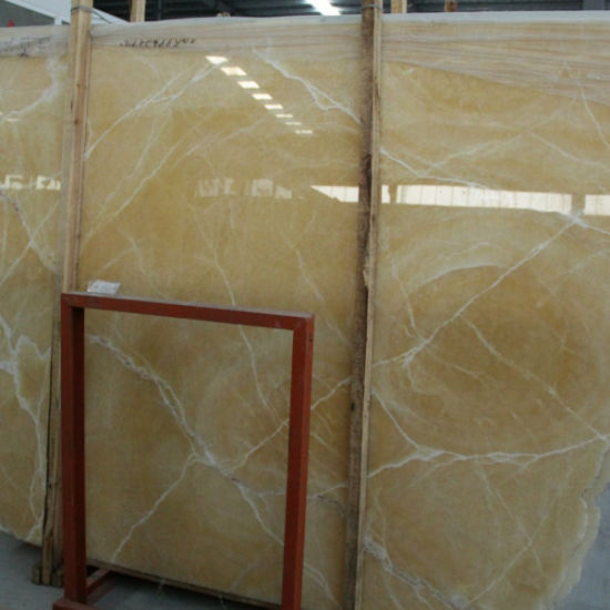 China Honey Onyx Marble Slabs pictures & photos