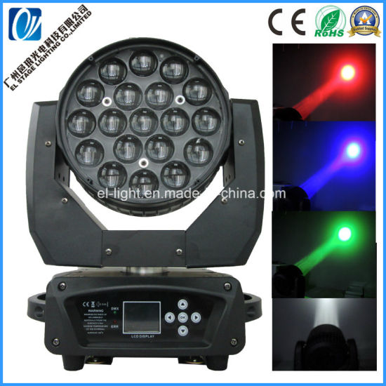 LED Zooming Moving Light with 19 LED for Show