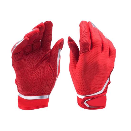 Men's Sheepskin Leather Batting Gloves Custom Logo Batting Gloves