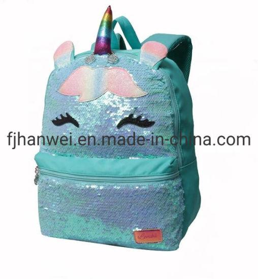 Hot Sales Popular Unicorn Sequins Students' Book Satchel School Bag
