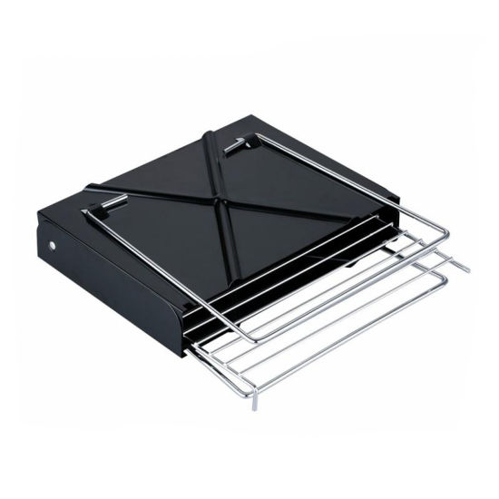 Used Indoor Foldable Good Stainless Steel Small Outside Charcoal BBQ Grill Portable Folds Flat on Sale