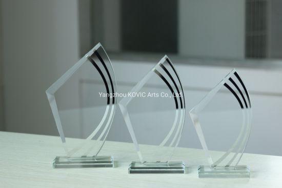 2020 New Design UV Printing Business Crystal Gift Souvenir Custom Crystal Glass Trophy