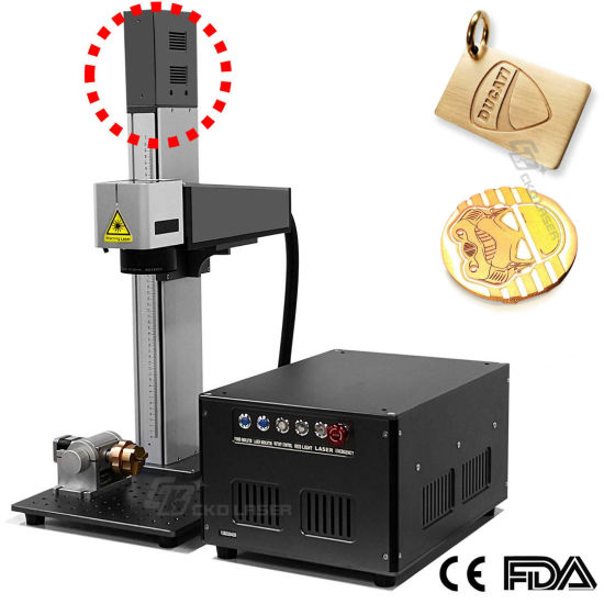 Motorized Focus Large Scope Laser Marking Machine for Keyboard Yeti Cup... (Portable, Support Deeply Engraving)