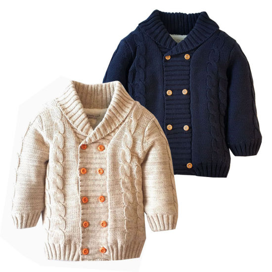 Popular Simple Series Double-Breasted Plush Sweater