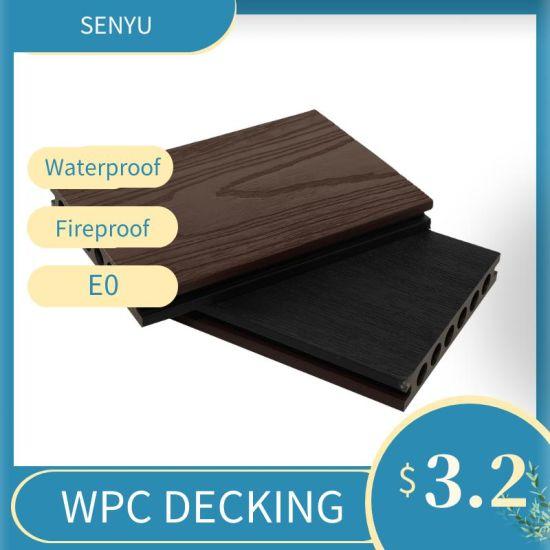 Outdoor WPC Flooring Wood Plastic Composite Wood Grain Decking Board