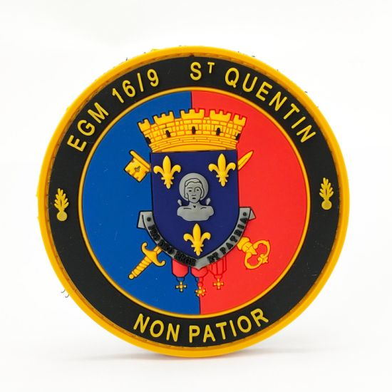 Custom High Quality Clothing Embroidery Label Military Unifrom Accessories PVC Patches Velcro