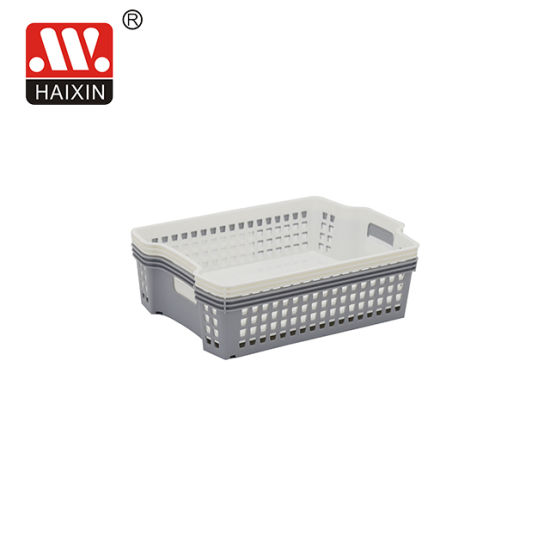 Rectangle Home Stackable Plastic Hand Basket Storage Basket with Handles