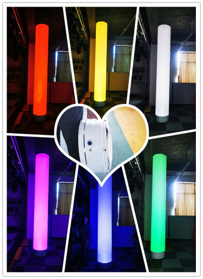 Rigeba New Arrival 6*15W 6 LEDs RGBW 4in1 Colorful Changing LED Battery Rechargeable inflatable Furniture Light