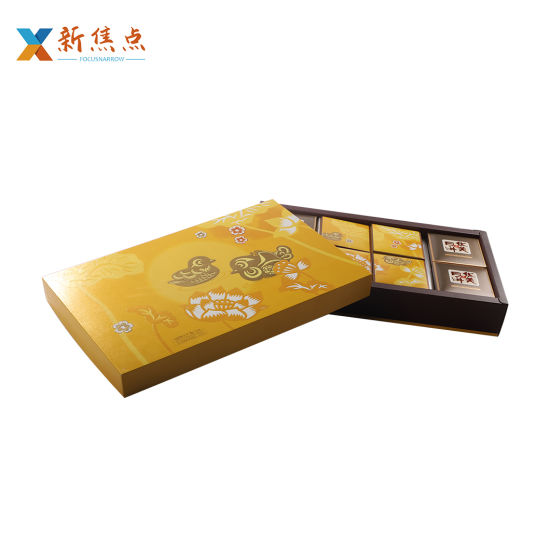 Wholesales Custom Luxury Design Carboard Food Packaging Mooncake Gift Box