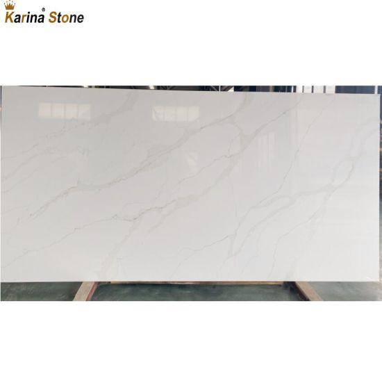 Vietnam White Artificial Quartz Stone Supplier Granite Countertop Slab